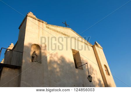 San Gabriel California USA./April 3 2016: Photo of Mission San Gabriel Arcangel