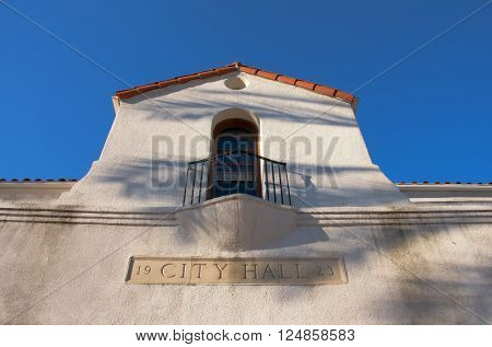 April 3 2016: Photo of San Gabriel City Hall which is located in San Gabriel Californa USA.