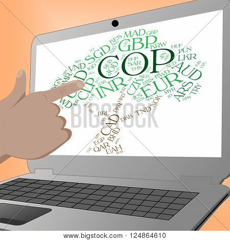 Cop Currency Means Foreign Exchange And Broker
