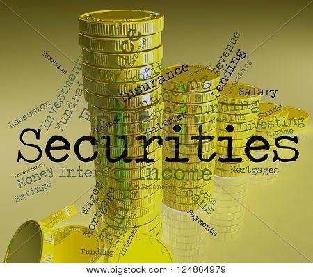 Securities Word Indicates Bad Debt And Arrears