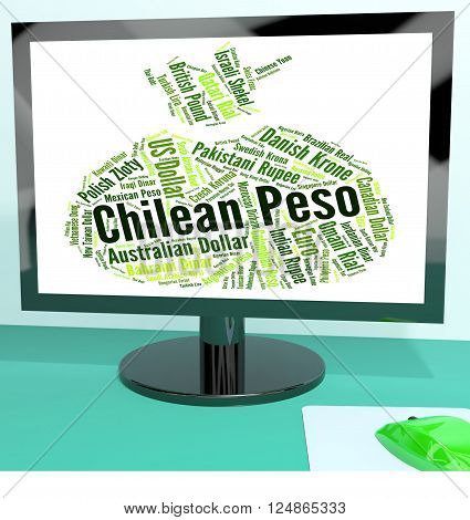 Chilean Peso Shows Worldwide Trading And Clp