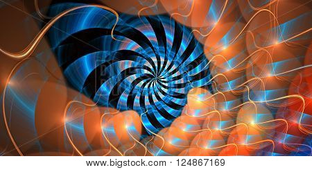 Fractal background with abstract shapes. High detailed.