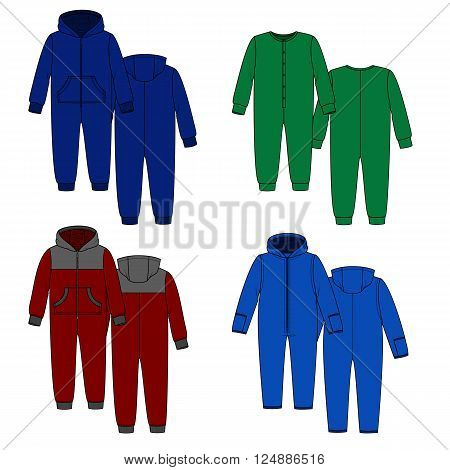 Vector image with overalls. Homewear for sleep and rest.