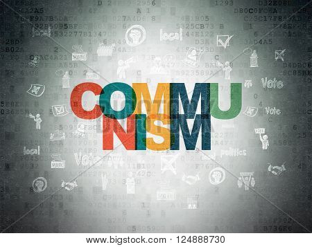 Political concept: Communism on Digital Paper background