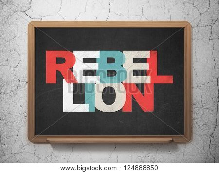 Politics concept: Rebellion on School board background