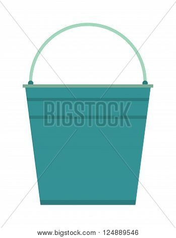 Empty bucket vector illustration icon.. Flat paint bucket cartoon vector illustration. Art work paint bucket container.