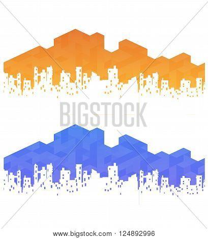 urban landscape for real estate agencies or travel agencies