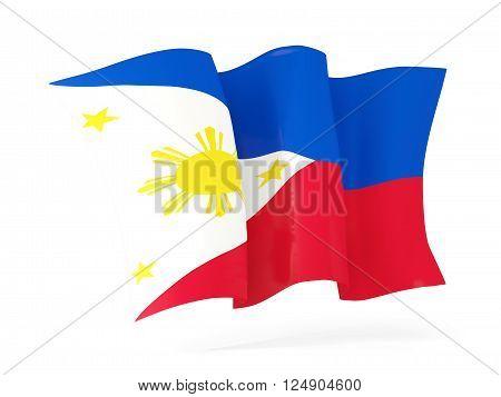 Waving Flag Of Philippines. 3D Illustration