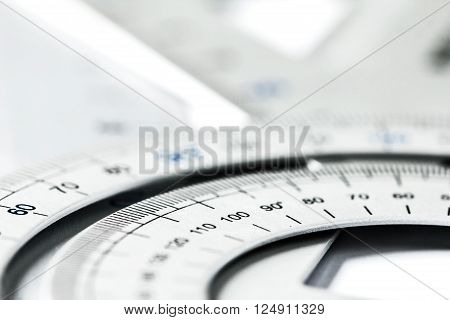 extremely selective focus a part of the silver precision measurement tool