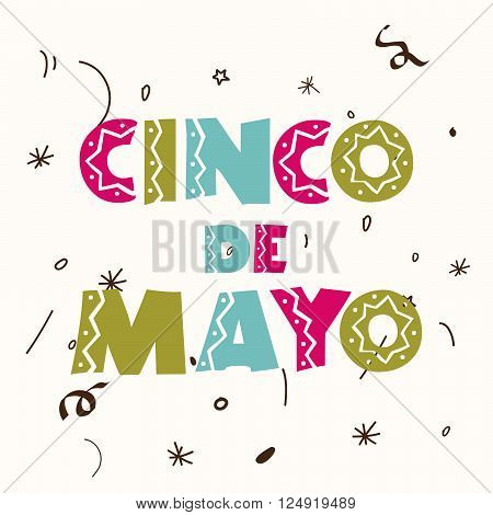 illustration of a colorful stylish text for Cinco De Mayo.