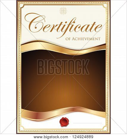 Brown And Gold Certificate Template.eps