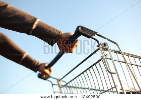 take cart in hands