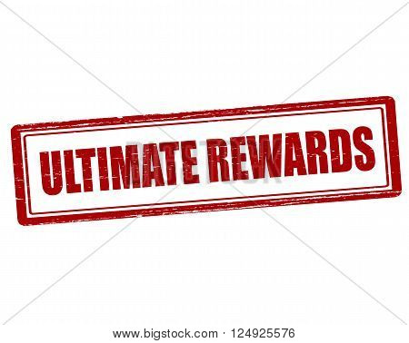 Rubber stamp with text ultimate rewards inside vector illustration