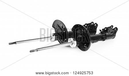 shock absorbers suspension isolated on white background