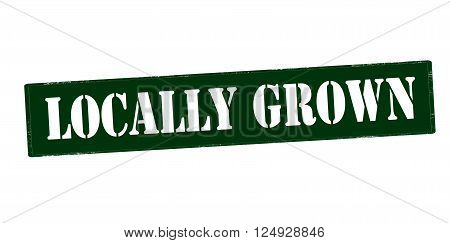 Rubber stamp with text locally grown inside vector illustration