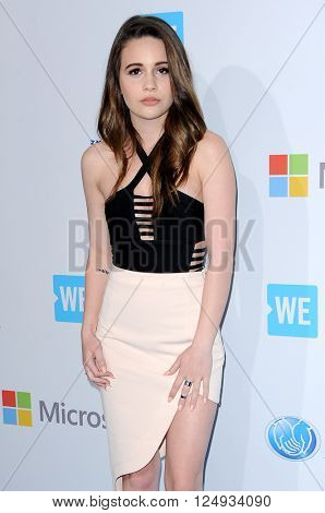 Bea Miller at the WE Day California held at the Forum in Inglewood, USA on April 7, 2016.