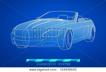 Views of hand drawn car model