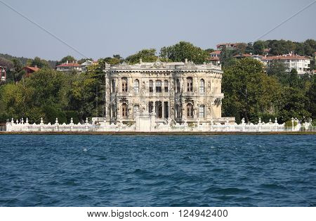 Kucuksu Pavilion built by Sultan Abdulmecit in Istanbul, Turkey poster
