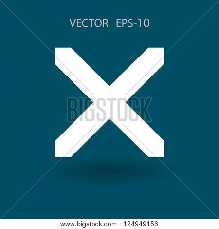 Flat  icon of prohibit poster