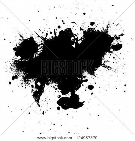 Black ink paint splatter Background. illustration vector design