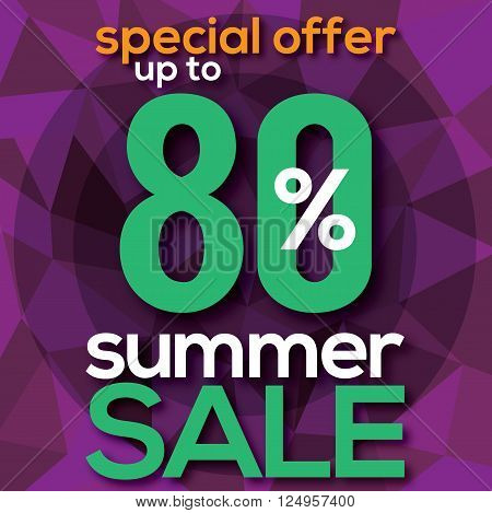 Summer Sale Modern Background Vector Illustration. EPS 10