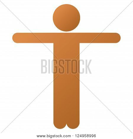 Child Scarescrow vector toolbar icon for software design. Style is a gradient icon symbol on a white background.
