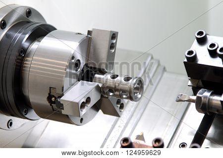 Lathe chucks of the modern metal-cutting machine.