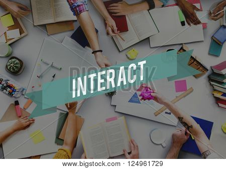 Interact Communication Community Connect Concept