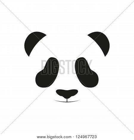 Baby panda face logo template. Baby panda face icon. Baby panda. Asian bear. Cute panda