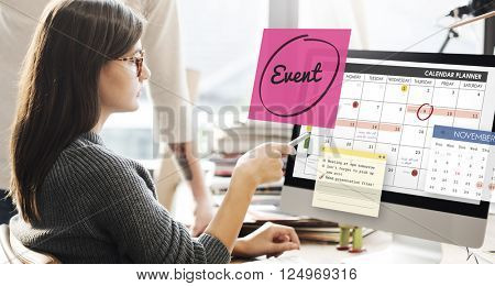 Event Celebration Occasion Happening Schedule Concept