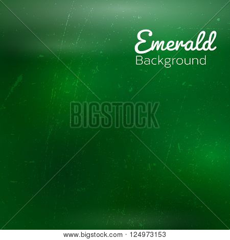 Abstract green background with sky stars and cosmic rays. Vector illustration.