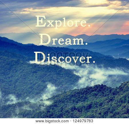 Inspirational and motivational travel quotes with phrase