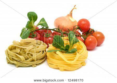 Italian Pasta Tagliatelle With Vegetables