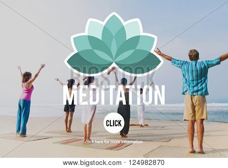 Meditation Focus Contemplation Consideration Peaceful Concept