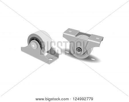 The rollers for furniture. Wheels for replacement