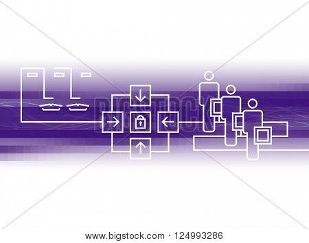 purple communication graphic