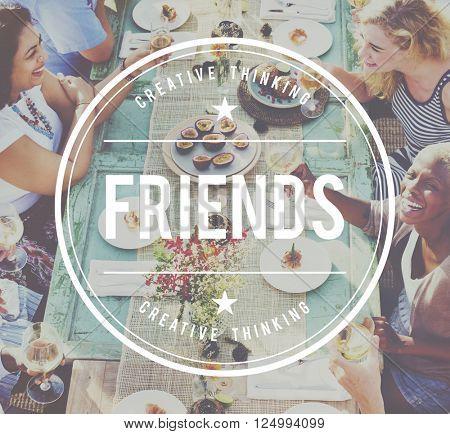 Friends Friendship Fellowship Community Team Concept