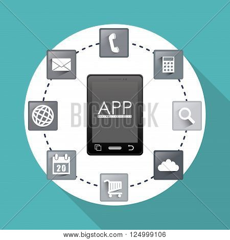 gadget concept with icon design, vector illustration 10 eps graphic.