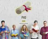 PhD Doctor of Philosophy Degree Education Graduation Concept poster