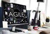 Agile Agility Nimble Quick Fast Volant Concept poster