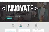 Innovate Innovation Technology Development Aspiration Concept poster