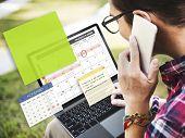 Calendar Planner Planning Organiser Note Concept poster
