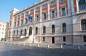 Rear facade of the Palazzo Montecitorio Rome Italy. poster
