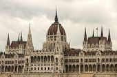 The Hungarian Parlament in Budapest, in Europe. poster
