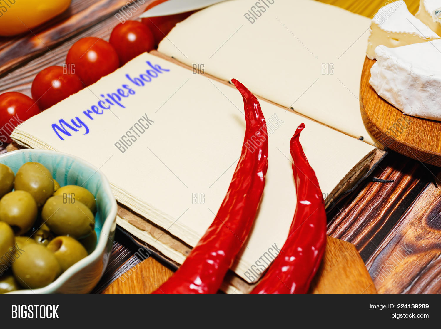 Vintage style recipes image photo free trial bigstock vintage style recipes book on a kitchen table and some cooking ingredients around chili peppers forumfinder Choice Image