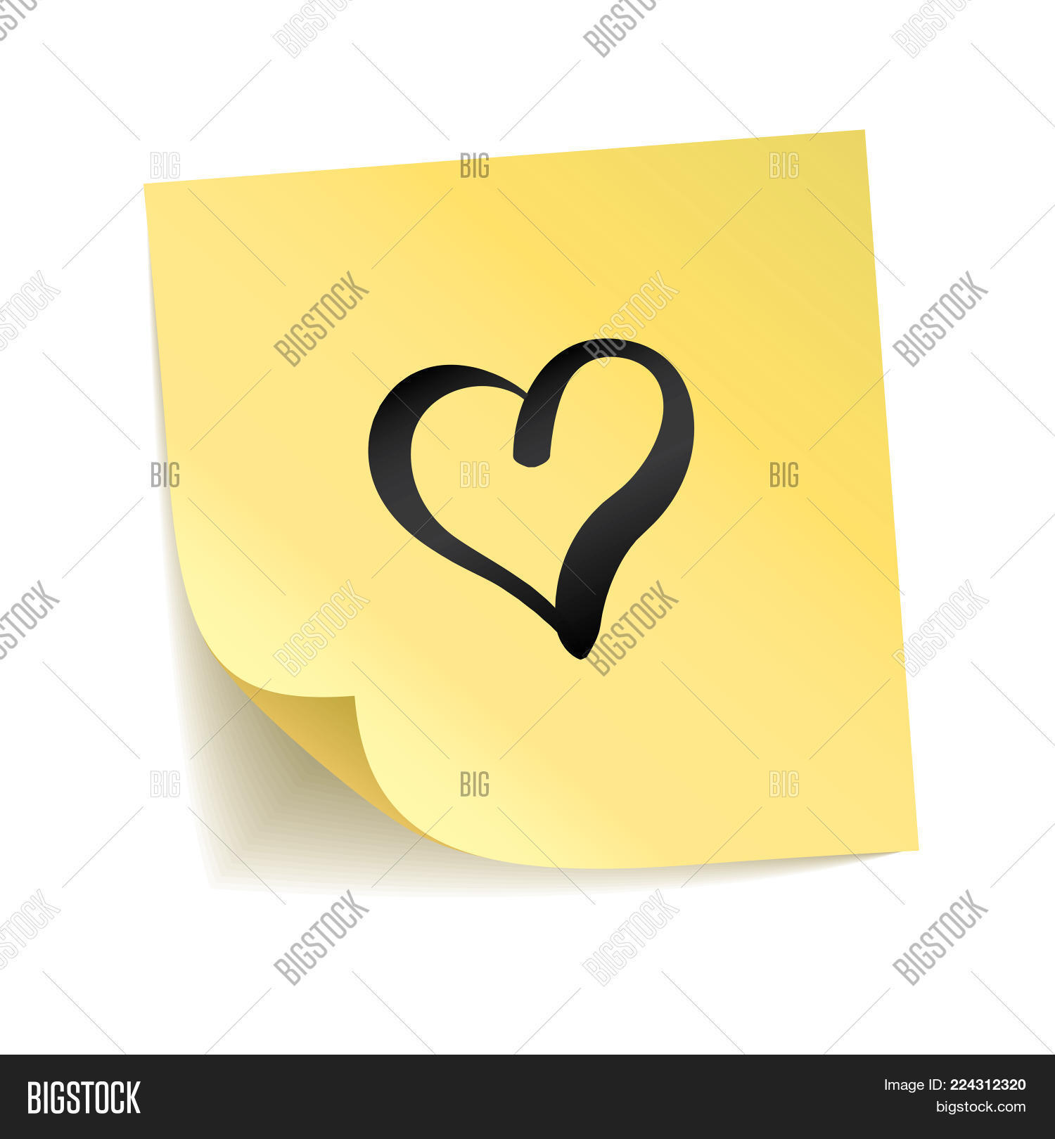 Note Yellow Sticker Image Photo Free Trial Bigstock