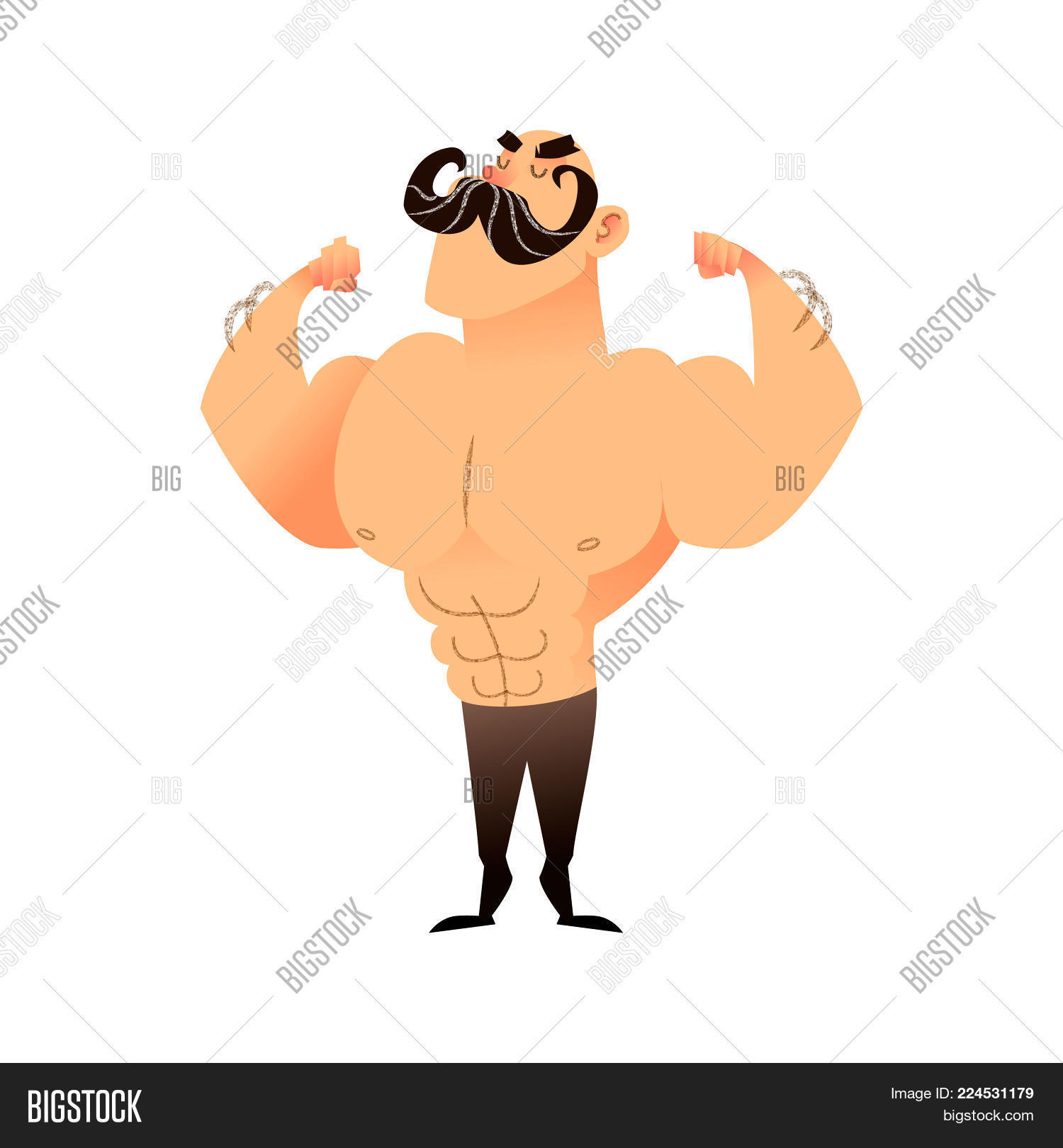 Cartoon Muscular Man Image & Photo (Free Trial) | Bigstock