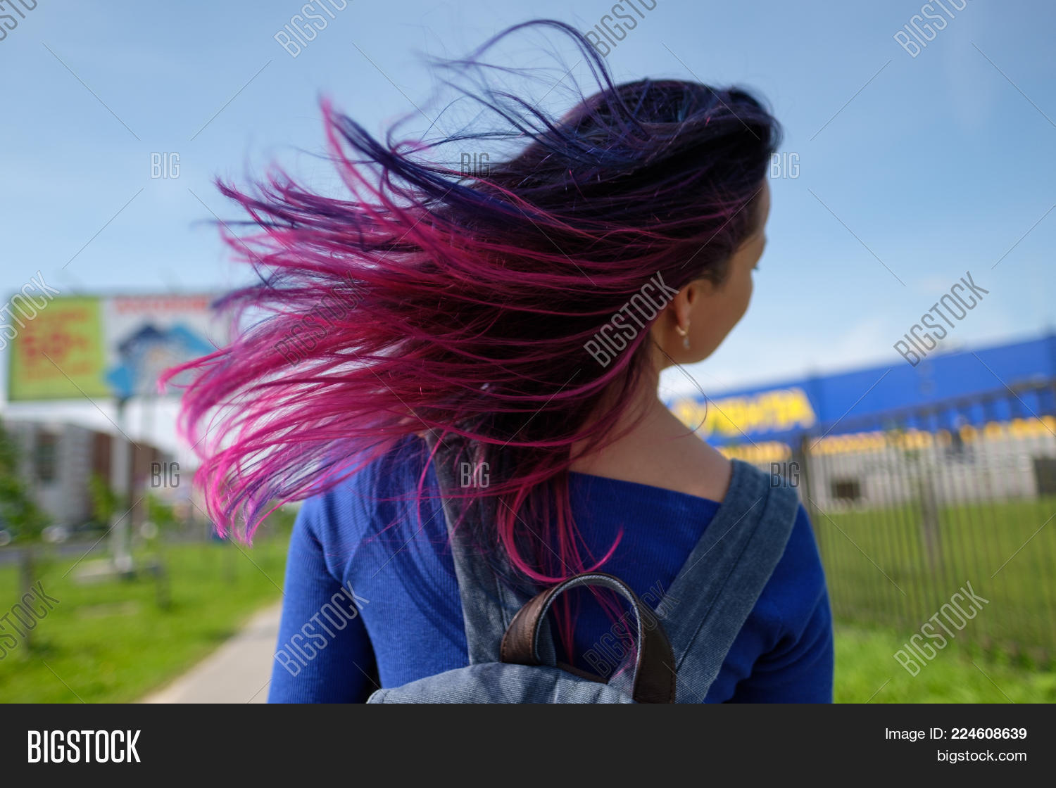 Girls Colored Hair Image Photo Free Trial Bigstock