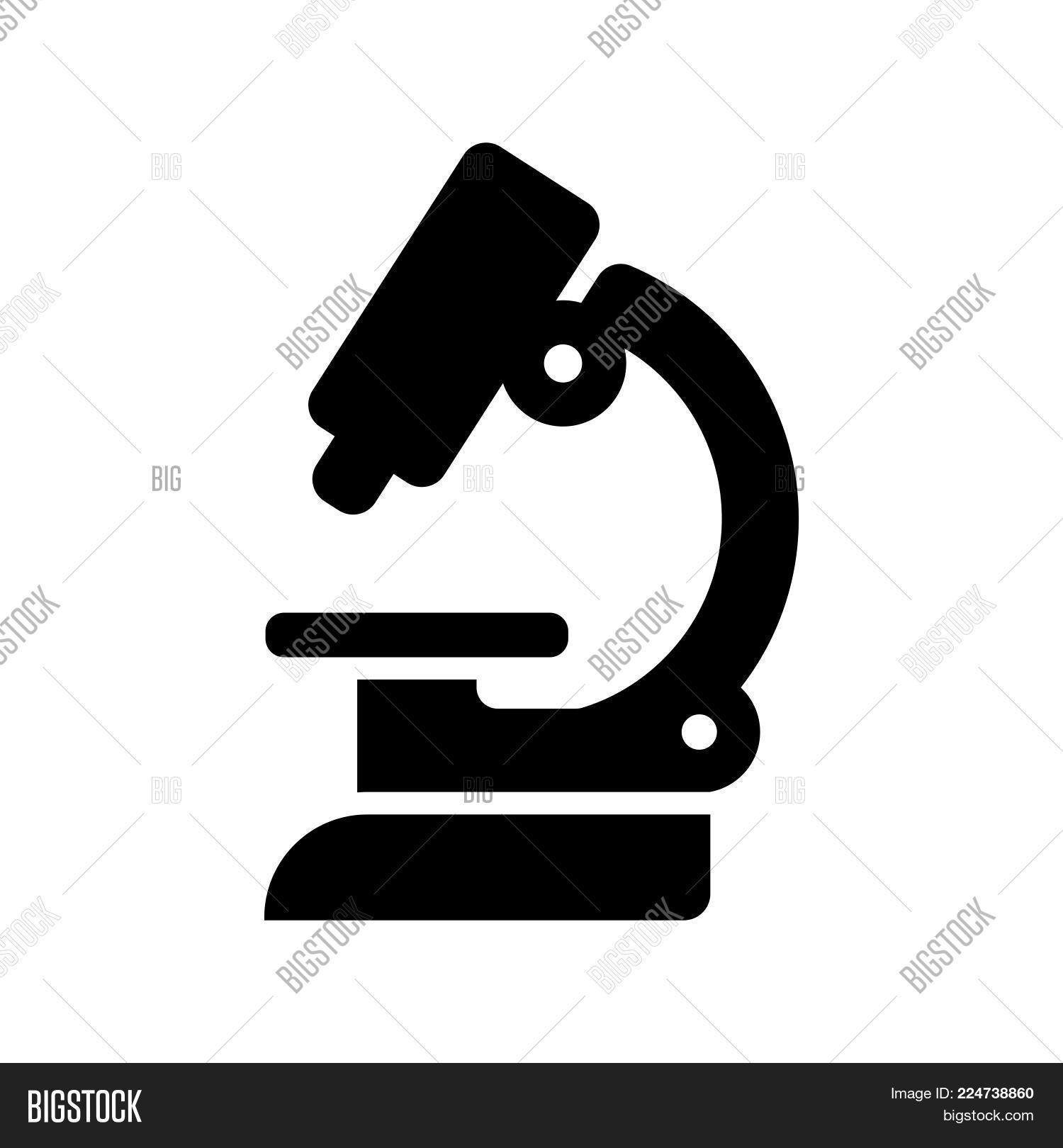 Microscope Icon Vector Photo Free Trial Bigstock