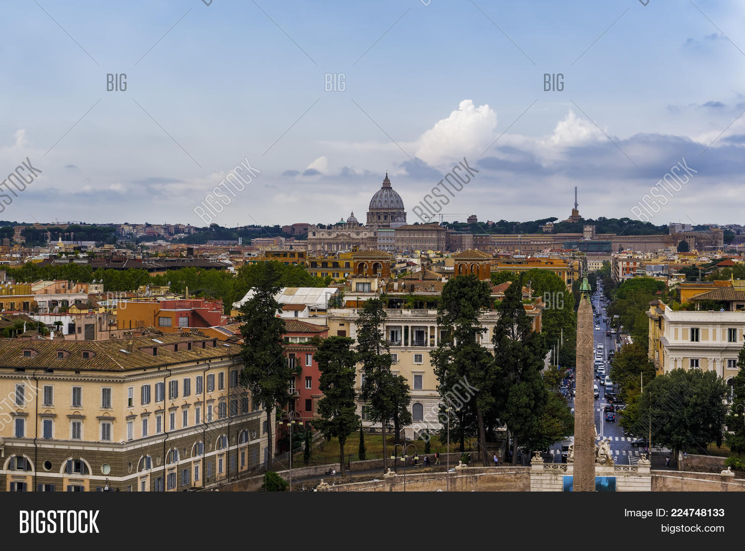Rome Italy Pincian Image Photo Free Trial Bigstock